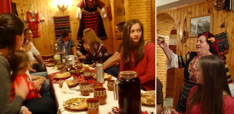 ארוחה בכפר בבולגריה