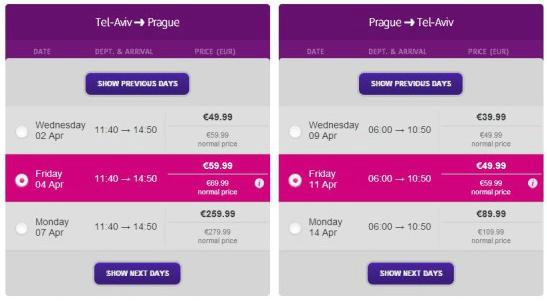 טיסה זולה לפראג