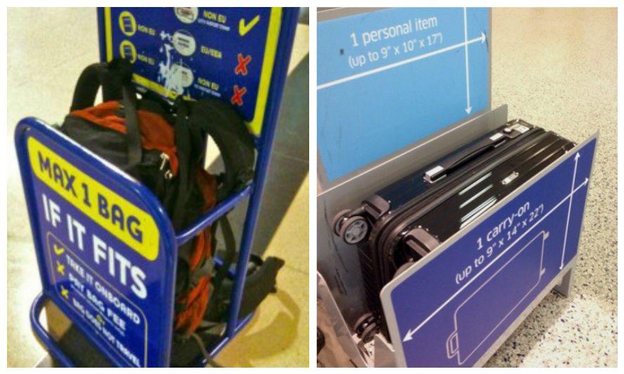 מדידת מזוודות