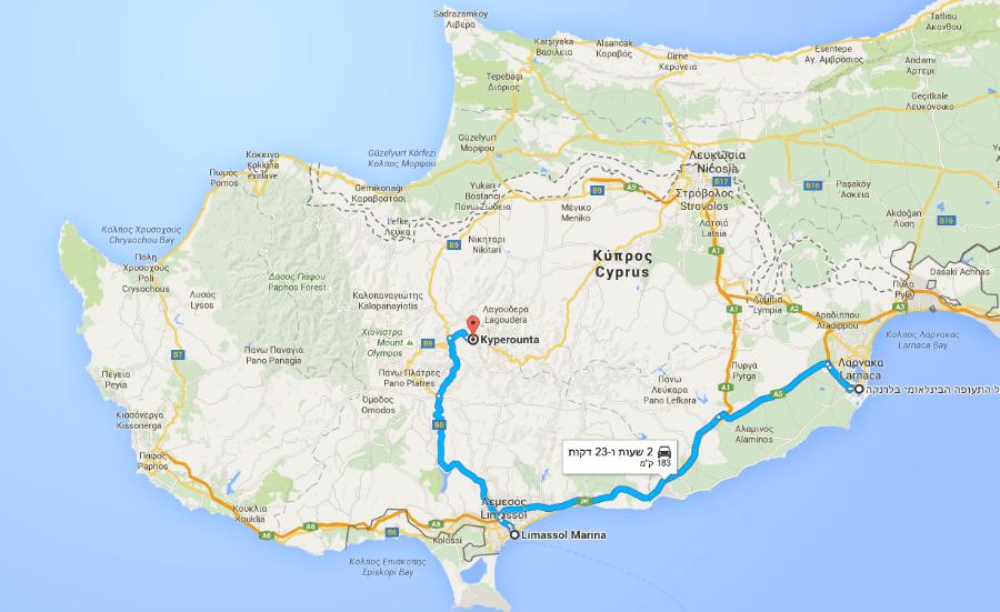 קפריסין מפה