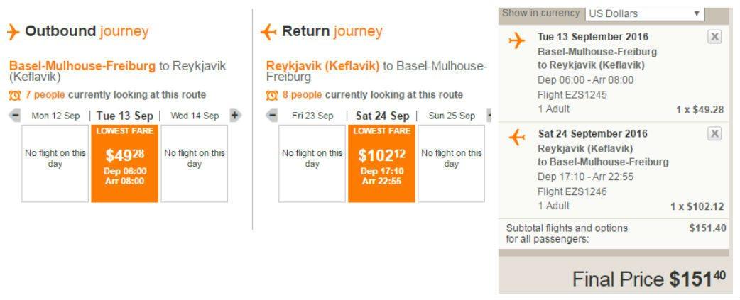 טיסות זולות לרייקיאוויק
